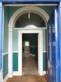 glimpse through front doordoor before