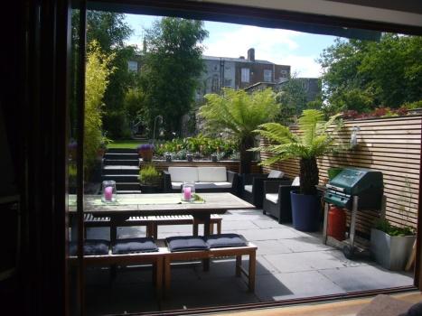 rear garden after