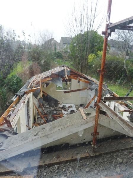 demolition of bungalow